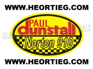 Paul Dunstall Norton 910 Tank and Fairing Transfer Decal DDUN10-7